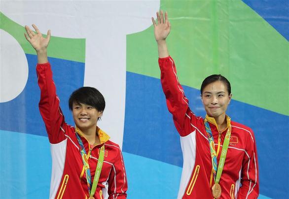 2016年 第31届 里约热内卢奥运会 吴敏霞与施廷懋获得女子跳水双人3米