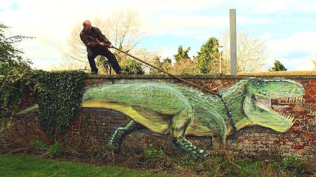 墙上的动物:艺术家的涂鸦天地