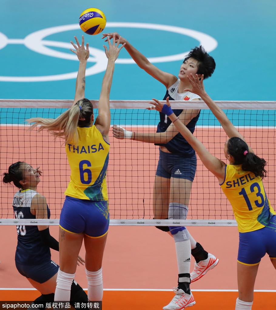 里约奥运会第11日:女子排球1\/4决赛 巴西VS中国