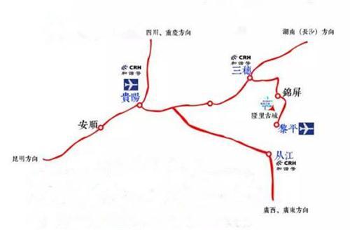 三穗县交通地图