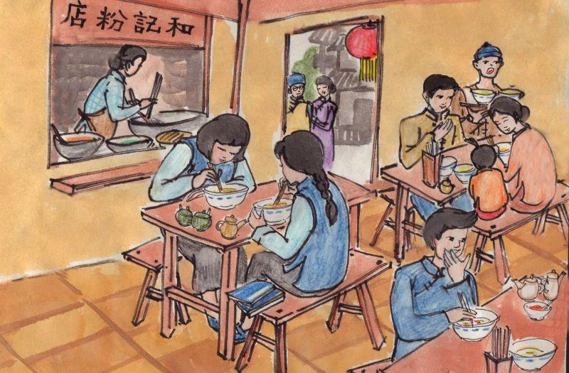 80后女子手绘民国老长沙