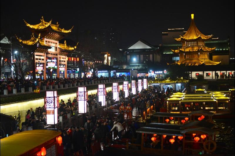 夫子庙成为南京春节假期最热景点