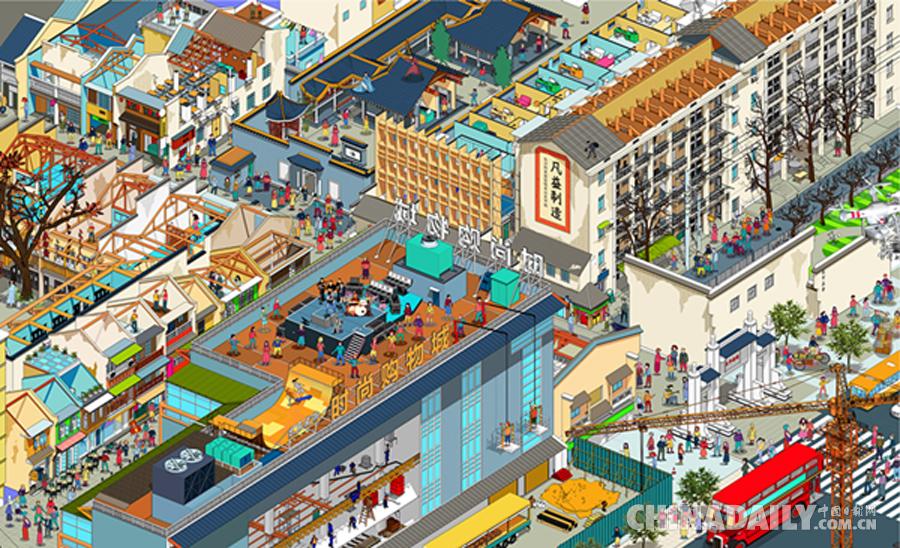 """长沙建筑师耗时三年打造""""手绘太平街"""" 唤起你的回忆了"""