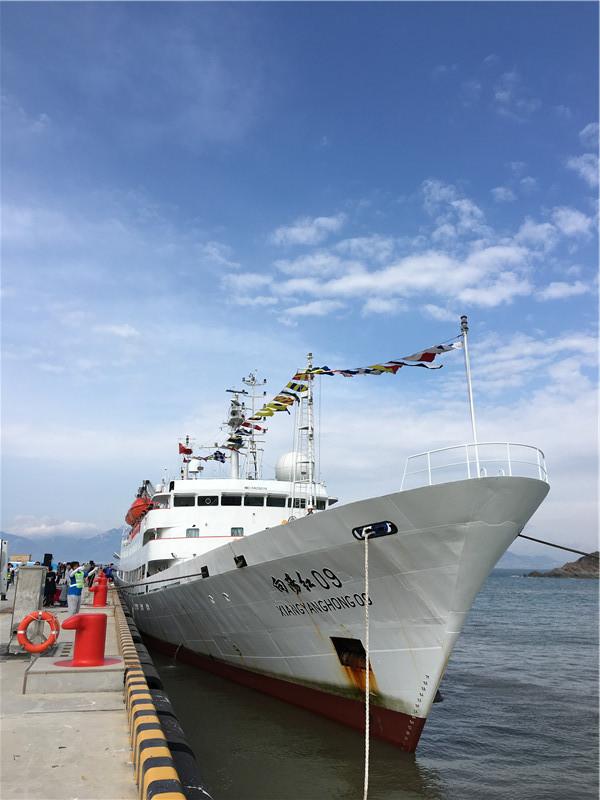 蛟龙号完成试验性应用航次返回青岛基地