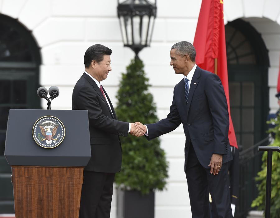 xi主席出国保镖视频_奥巴马在白宫举行仪式欢迎习近平[2]- 中国日报网